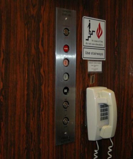 El coste del telefono en el ascensor