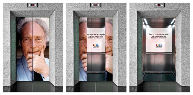 La publicidad en los ascensores, un mundo de creatividad
