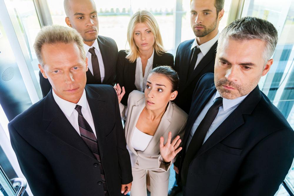 situaciones incómodas en ascensores