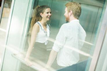 Conversaciones en ascensores. ¿De qué hablamos?