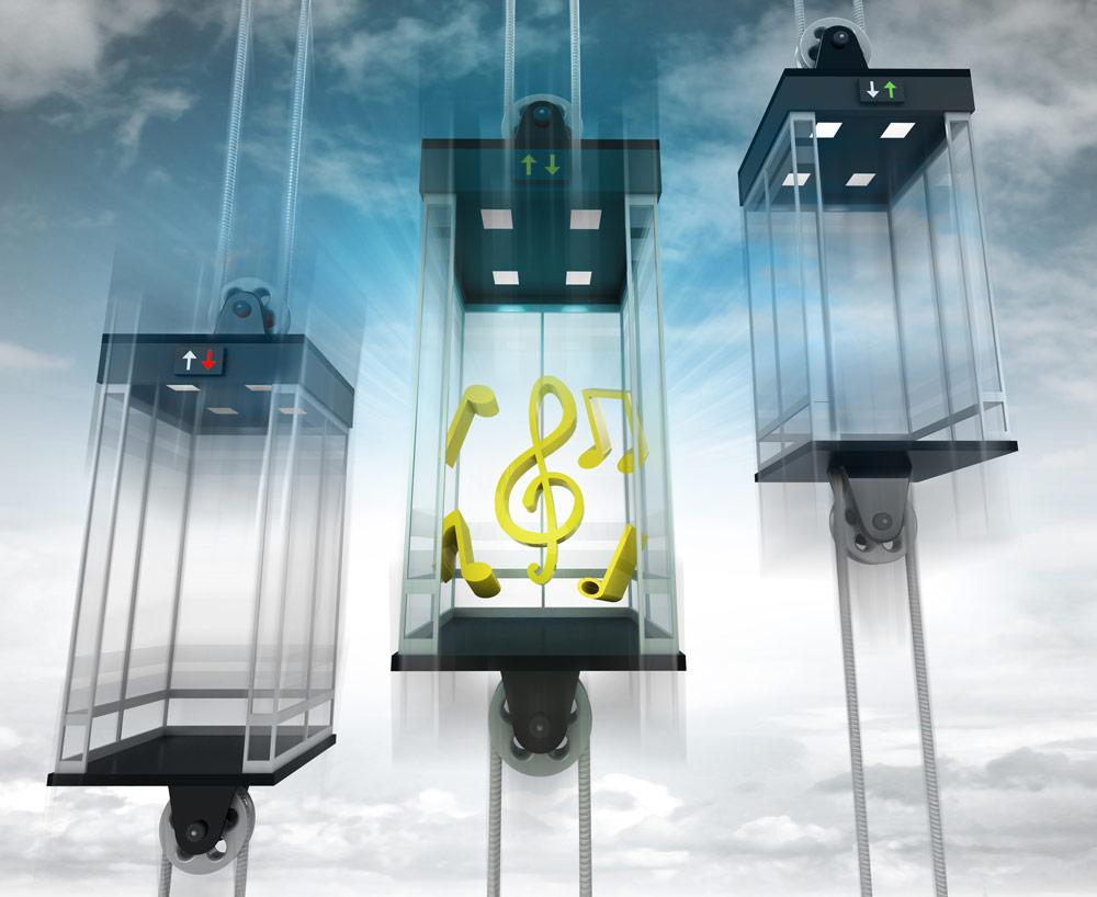 música en los ascensores