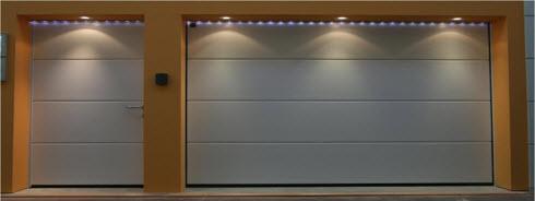 conjunto de puertas seccionales automaticas