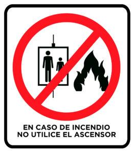 riesgo de incendio ascensor