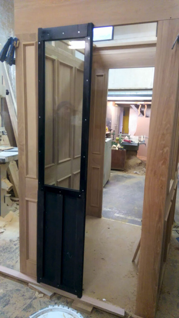 cabina madera ascensor