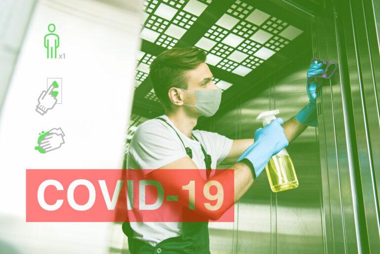 Cómo limpiar el ascensor para evitar la expansión del Covid-19